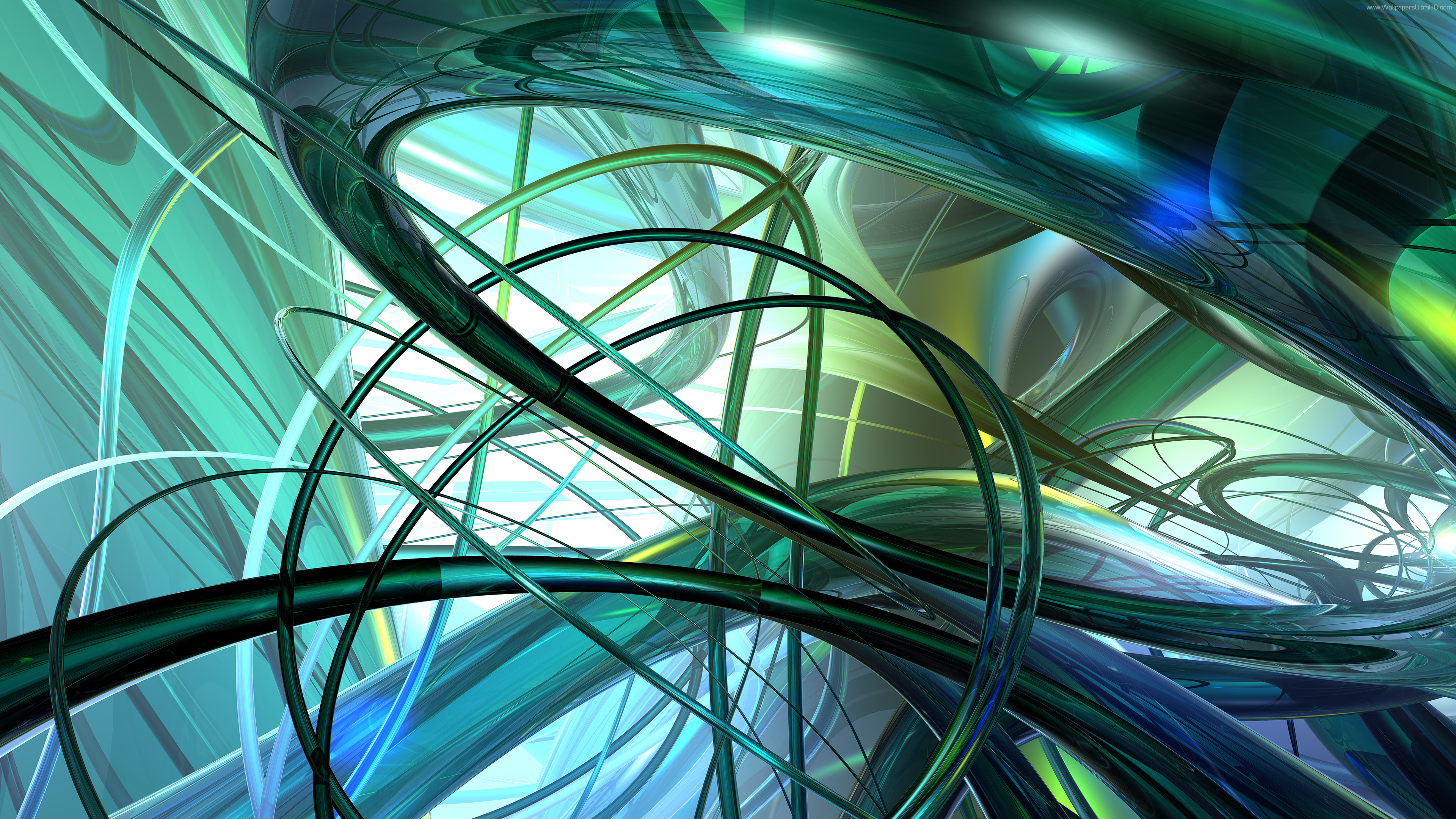 3d green abstract picture 4k
